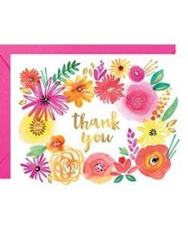 WILDFLOWER FOIL THANK YOU CARD