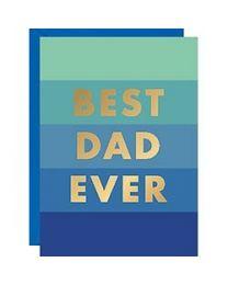 BEST DAD EVER FOIL CARD