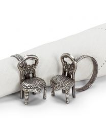 Set of 4 Fancy Chair Napkin Ring
