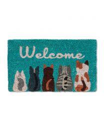 """cat """"Welcome"""" Doormat"""
