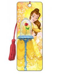 3D BOOKMARK - BEAUTY AND THE BEAST - BELLE ROSE