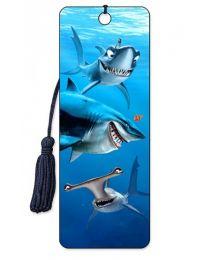 3D BOOKMARK - FINDING NEMO - SHARKS