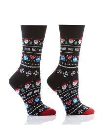 Women's Crew Socks - Ho Ho Ho