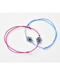 Alloy Hand Charm Design Bracelet