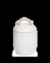 Cape White Ceramic Canister - Medium