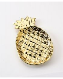 Ceramic Gold Pineapple Trinket Plate