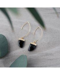 Chic Earrings-gold/black onyx