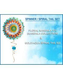 Floral Mandala W/MINI CRYSTAL TWISTER