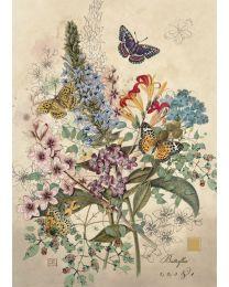 Botanical Butterflies Card
