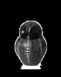 Debossed Dotted Owl - Black