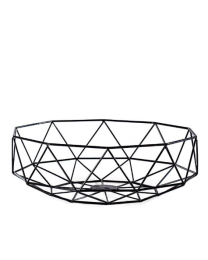 Diamond Deco Metal Bowl - Black