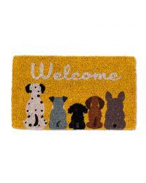 """Dog """"Welcome"""" Doormat"""