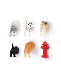 DOG BUTT MAGNETS SET OF 6