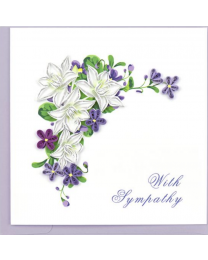 FLOWER SYMPATHY Quilling Card