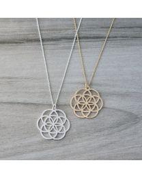 Geo Star Necklace-silver
