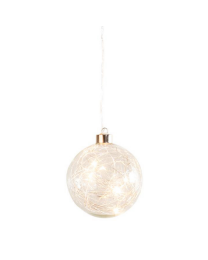 """Hanging Orb Clear Glass 4"""" Diameter LED Decor Ball"""