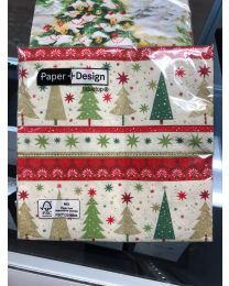 Simple Xmas Trees - Luncheon Napkins