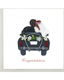JUST MARRIED Quilling Card