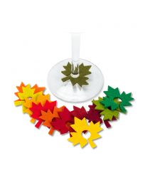Leaf Wine Charms S/12
