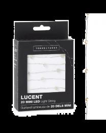 Lucent Mini Diamond Shape 20 LED Battery Light String