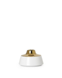 """Luminus Gold Top Ceramic 4""""h Wide Bottle Vase"""