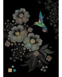 Blue Hummingbird Card