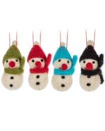 Mini Snowman Ornament-4 Assorted