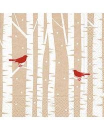 Red Birds - Luncheon Napkin