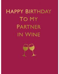Partner in Wine - Greeting Card