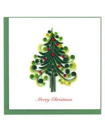 Christmas Tree Quilling Card