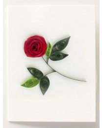 Rose Gift Enclosure Quilling Card
