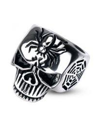 Spider Web Skull Cast Ring 316L