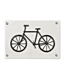 Rectangle Bicycle Plaque - Antique White