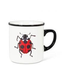 Red Ladybug Rimmed Mug