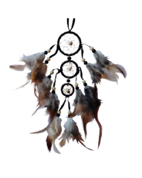 DREAM CATCHER (3 RINGS) BLACK 9IN