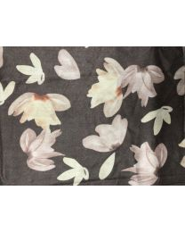 SCARF - FLOWER 2 FACES - BROWN