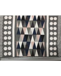 SCARF WITH TRIANGLE COLORS - GREY
