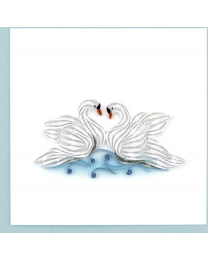 SWANS Quilling Card