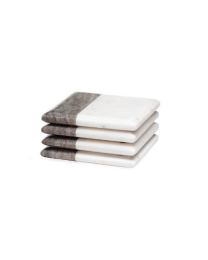 Two Tone Marble Coasters Square - Set of Four