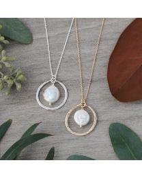 Unity Pendant - Gold/White Pearl