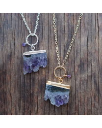 Uptown Necklace - Silver/Purple