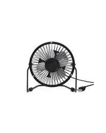 USB METAL DESK FAN - BLACK