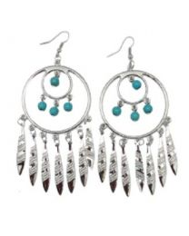EARRINGS HOOP FEATHERS