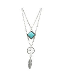 NECKLACE DREAM CATCHER  TURQUOISE
