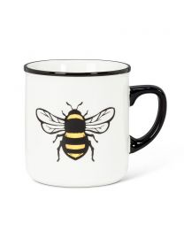 Yellow Bee Rimmed Mug 10oz